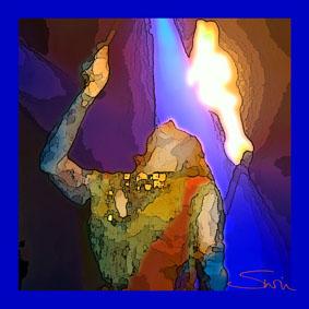 Fire Eater Silk Scarf