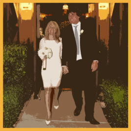 silk scarf, commission, bespoke, wedding, wedding memory, vegas,