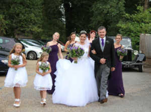 wedding photography, here comes the bride, family photo, vintage cars, church weddings