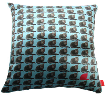Bespoke Pet Cushion CAT Blue