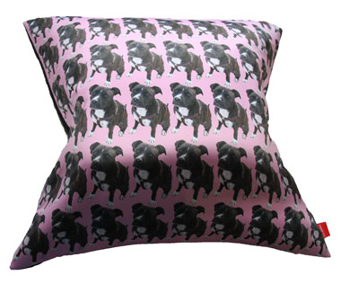 Bespoke Pet Cushion Staffie