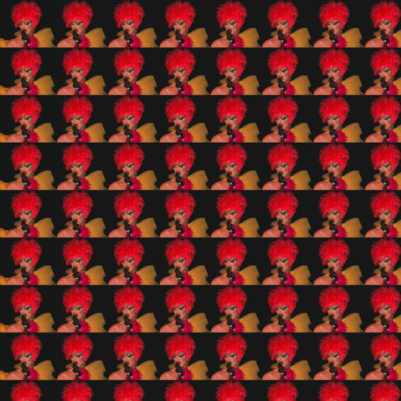 Drag Queen Repeat Design by swin, red, black, gold, red black gold interiors, swin