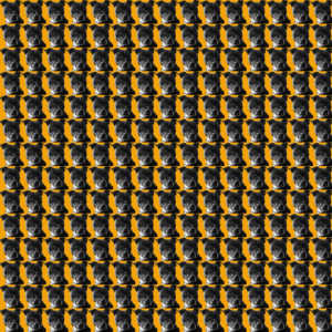 Staffordshire Dog Tooth fabric design Mustard