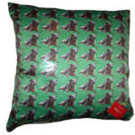 Dog cushion, swin, Bespoke, Duchess Satin, Luxury gift, mans best friend
