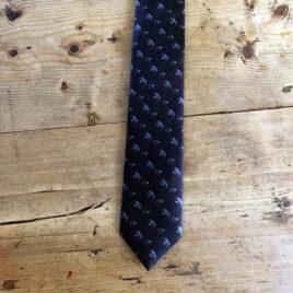 Silk Wedding Tie on wooden background