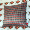 soldier design on cushion, background hearts