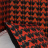 Maude Petite Wallpaper and Cushion in orange by Claire Swindale