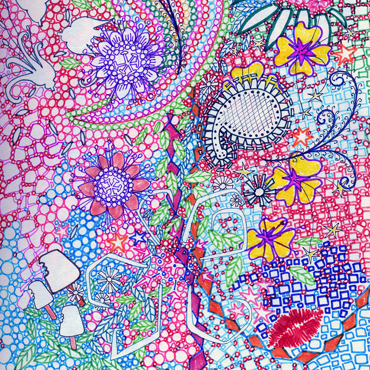 busy colourful patterns